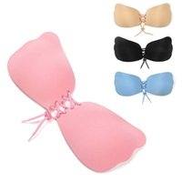 Silicone Bra Adhesive Stick On Push Up Gel Strapless Backles...