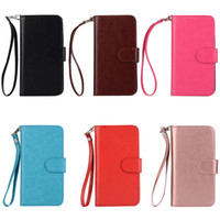 2in1 Solid Color Wallet Phone Case for iPhone X 5 6 7 8 Plus...