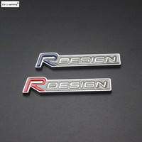 3D metal Zinc alloy R DESIGN RDESIGN letter Emblems Badges C...