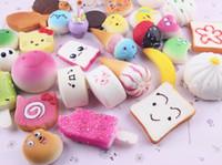 Yaratıcılık squishies oyuncaklar Hamburger Dondurma squishy pamuk şeker yavaş squishy paketi squeeze oyuncak çocuk hediye ile kokulu yükseldi Ücretsiz Gemi