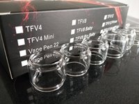TFV12 TFV8 Big baby TFV12 Prince TFV8 X baby Vape Pen 22 Plus per RBA Coil Replacement Bulb fat boy Tubo convesso in vetro