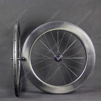 무료 배송! 특별 브레이크 표면 딤플 탄소 바퀴 80mm 클린 처 관 도로 자전거 카본 휠 700C 도로 자전거