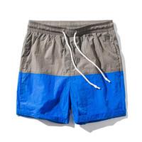 Pantalones cortos de verano para hombres Pantalones de playa Patchwork Impresión en color Pantalones cortos de manga larga elásticos más el tamaño M-5XL 9 estilo