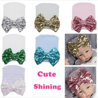 Cute Baby hat Sequins big bow Beanie Infant Maternity Access...