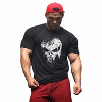 Newest vintage skull t shirt Men Summer Cotton pullover homm...