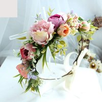 Women Beach Headband Floral Hair Lady Girls Bride Boho Flowe...