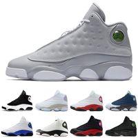 Zapatos 13 XIII 13s homme Chaussures de basket-ball sneaker 13 ans Phantom Bred Noir brun blanc hologramme silex atheletic Entraîneur de chaussures de sport