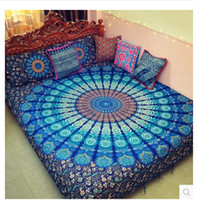 Extensión de la cama de la India Mandala Tapiz Hippie Throw Yoga Mat colgar de la pared de Bohemia Throw Belleza étnica decoración de la pared de Super Big Bed cubierta 180X230cm