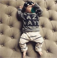 2018 Autumn baby boy clothes baby clothing set fashion cotto...