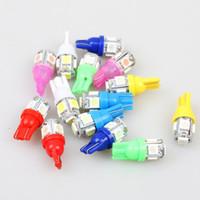 100PCS Auto T10 5 LED 1W 5050 W5W Wedge Dörr Parkering Bulb Ljusbil 5W5 LED Dome Festoon C5W C10W Licensplatta Ljusbilstyling