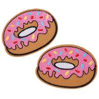 Donut brodé Patch fer Donut Correctifs coudre Vêtements Badge Autocollants Appliqué Patch Vêtements Craft Couture Accessoires Nouveau