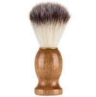 Rasage Brosse Blaireau Cheveux Hommes Barber Salon Hommes Facial Barbe Nettoyage Appareil De Rasage Outil Rasage Brosse Poignée En Bois pour Hommes