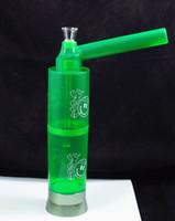 10 Zoll tragbare Kunststoff Glas Wasserpfeife Rauch Bong Reisen Mischfarbe Reise Rauchen Gerät Schraube auf Flasche Konverter