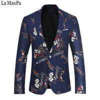 La MaxPa Fashion  men suit blazers jacket designs casual slim fit spring autumn party wedding prom business blazer printing
