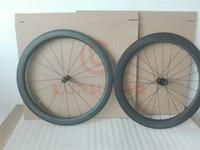 Roues en carbone de 60 mm de Prabon 700C 3K / UD Carbon Critchers / Tubular WheelSet Road Roues de vélo 10/11 Speed Basalt Frein Surface