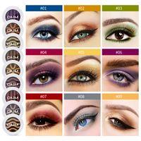 2021 패션 여성 메이크업 9 색 눈 그림자 상자 눈부신 색상 패션 섹시한 눈 그림자 파워