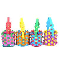El yapımı EVA dokuma Cadılar Bayramı şeker sepeti kreş alanı malzemesi çocuk DIY el macunu üretim çocuk oyuncakları hediye