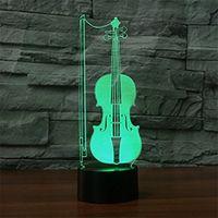 3d Glow LED Night Light Lighto Inspiracja 7 Kolory Lampa Illusion Optical Dotyka Czujnik Dotykowy do domu Party Wystrój Świetny prezent pomysł