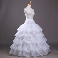 4 cappi 5 strati sottoveste per abito da sposa ball gown puffy sottogonna crinolina accessori da sposa