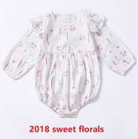 2018 Ins Autumn Infant girl clothing Rompers Flutter sleeve ...
