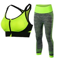 Sexy Compression Fitness Tights Yoga Set Quick Dry Workout S...