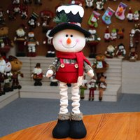 Snowman Decoration Doll For Christmas Table Telescopic Ornam...