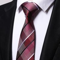 Toptan Şarap çapraz çizgili bağları erkekler 2017 düğün cravate jakarlı dokuma kravat Parti Iş Resmi Doğum Günü Hediye B0006