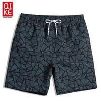 Shorts de praia Homens Calções De Banho Padrões Geométricos Board Shorts Swimsuit Praia Swimwear Liner Suor Sexo Calções De Corrida Plavky