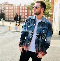 Abbigliamento da donna autunno-nuovi Cappotto giacca di jeans Cappotto lavato con foro Foro Capispalla Vintage Cappotto hip-hop con stampa cocco