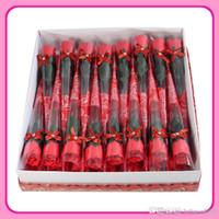 اليد التي قدمت الصابون الاصطناعي زهرة رومانسية حمام الجسم روز الزهور بتلات ملونة لعيد الحب زينة الزفاف هدايا 1JM ZZ