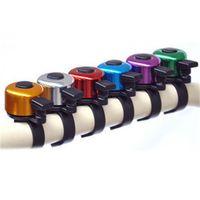 Liga de alumínio bicicleta Horns Para guiador de bicicleta de Bell Outdoor Som Resounding Avisar Trumpet bicicleta muitas cores 0 65bs ZZ