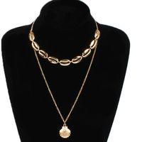 bijoux collier pendentif coquille Bohimian muiltilayer collier ethnique pendentif collier pour les femmes mode chaud gratuit d'expédition