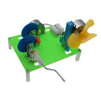 Generador de mano acelerado secundario experimento de física juguetes de ciencia DIY abstiene generador de estudiantes descubrimientos científicos