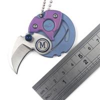Mini-Titan-Legierung Taschenmesser Klappmesser Portable hängen Schnalle Währung Selbstverteidigung EDC outdoor taktisches Messer