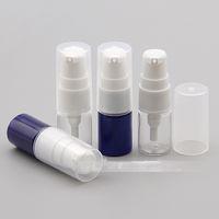 6 ml PET krem losyon pompası doldurulabilir Mini Plastik dağıtıcı şişe sıvı şampuan konteyner Seyahat boyutu açık ve mavi renk