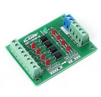 Geen verzendkosten! 1pc / lot 24V tot 5V 4-kanaals optocoupler isolatie bord Geïsoleerde module PLC Signaalniveau Voltage converter board
