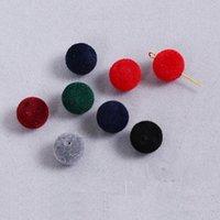 50PCS / الكثير 12MM يتدفقون أفخم الكرة جولات شكل الخرز أزياء flastic المجوهرات DIY القرط / سوار المعلقات
