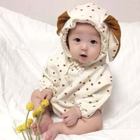 Best selling autumn and winter baby girl jumpsuit cute rabbi...