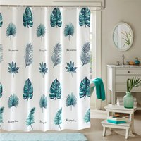 YUN YANG  New Quality Leaves Green Plants Waterproof Mildew Proof Polyester Shower Curtain Summer Thicken Bathroom Curtain