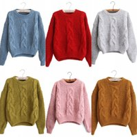 O Neck Long Sleeve Women Sweaters 2018 Winter Ribbed Sweater...