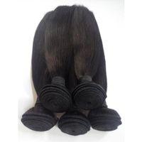 3 Bundles Extensions de Cheveux Vierges Brésiliens 100% Non Transformés Indiens Européens Droite Remy Armures de Cheveux Humains