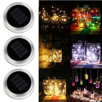Solar LED Mason Jars Light Up Lid 10 20 LED String Fairy Sta...