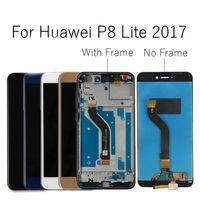 "Huawei P8 Lite 2017 ЖК-дисплей Сенсорный экран Узел дигитайзер с рамкой PRA-LX3 замена для 5,2 ""Huawei P8 lite 2017 ЖК"