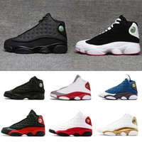 2018 cheap hot shoes 13s XIII mans Basketball Shoes Bred Nav...