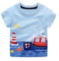 babaa58adb7 Niños Tops Marca de verano Niños Camisetas Niños Ropa Niños Camiseta Fille  100% Algodón Estampado