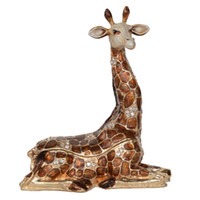 Sitting giraffe jewelry boxes trinket Box Collectible pewter...