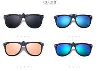 Whosale Fashion Optique Spectacle TR90 Cadre Hommes Femmes Clip sur lunettes de soleil Pince de lunettes magnétiques polarisées Clip pour lunettes masculines
