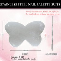 1pcs lot Stainless Steel Butterfly Shape Mixing Makeup Artis...