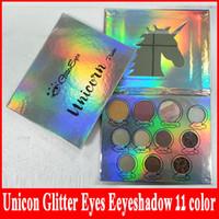2018 завод прямые Unicon блеск глаз палитра теней для век 11 цветов макияж тени для век палитра блеск DHL доставка
