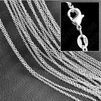 """5pcs / lot Promotion! collier en gros en argent sterling 925, bijoux de mode en argent Rolo Chain 1mm Necklace 16 18 20 22 24 """""""